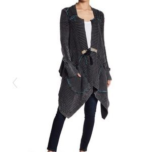 Free people Medium All Washed Out Cardigan Gray